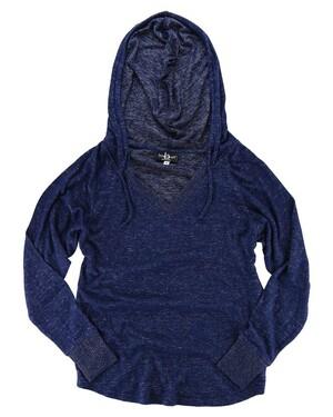 Women's Cuddle Fleece V-Neck Hooded Pullover