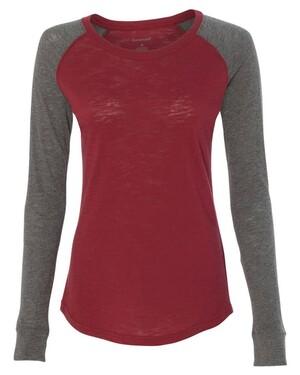 Women's Preppy Patch Slub T-Shirt
