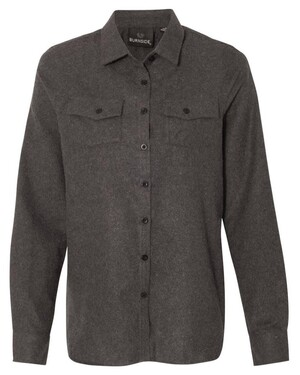 Women's Long Sleeve Solid Flannel Shirt