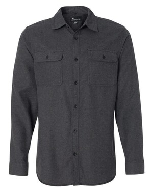 Solid Long Sleeve Flannel Shirt