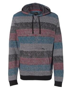 Printed Striped Fleece Sweatshirt