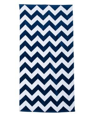 Chevron Velour Beach Towel