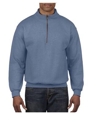 Garment-Dyed Quarter Zip Sweatshirt