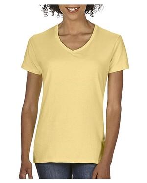 Garment-Dyed Women's Midweight V-Neck T-Shirt