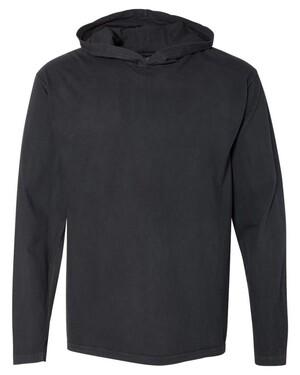 Garment Dyed Hooded Long Sleeve T-Shirt