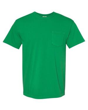 Heavyweight 100% Cotton Garment-Dyed Pocket T-Shirt