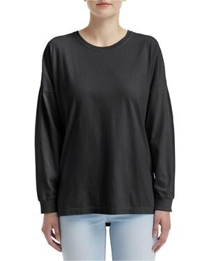 Ringspun Cotton Drop Shoulder Long Sleeve T-Shirt