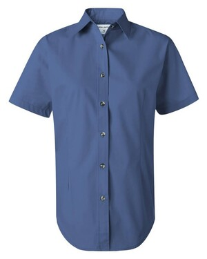 Women's Short Sleeve Stain-Resistant Twill Shirt