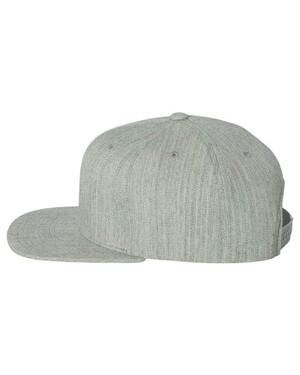 Wool Blend Flat-Bill Snapback Hat