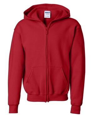 Heavy Blend Youth Full-Zip Hooded Sweatshirt