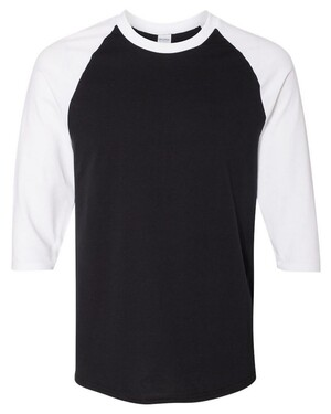 Heavy Cotton Three-Quarter Raglan Sleeve T-Shirt
