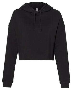 Women's Lightweight Hooded Pullover Crop Sweatshirt
