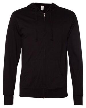 Lightweight Jersey Hooded Full-Zip Hoodie