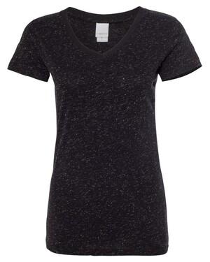 Women's Glitter V-Neck T-Shirt