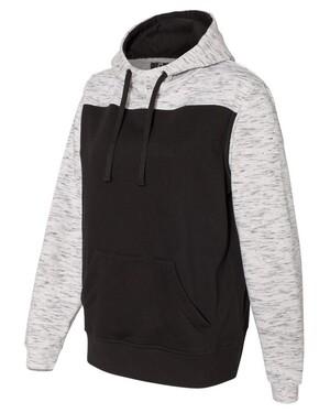 Melange Fleece Colorblocked Hoodie