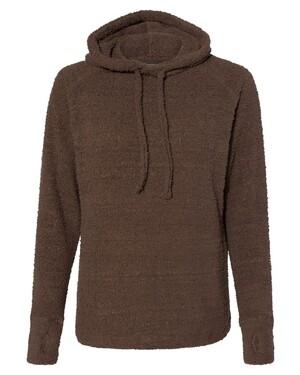 Teddy Fleece Women's Pullover with Scuba Hood