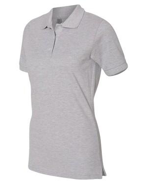 Women's Easy Care Double Mesh Ringspun Pique Polo Shirt