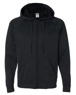 100% Polyester Fleece Full-Zip Hoodie