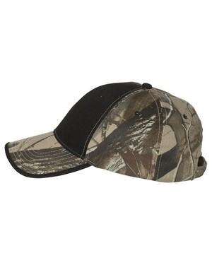 Solid Front Camo Hat