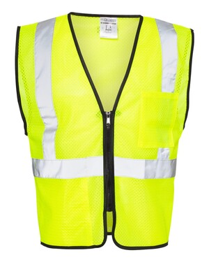 Class 2 Double-Pocket Zippered Economy Vest