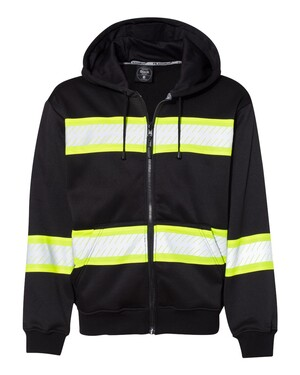 Enhanced Visibility Heavyweight Hooded Full-Zip Sweatshirt