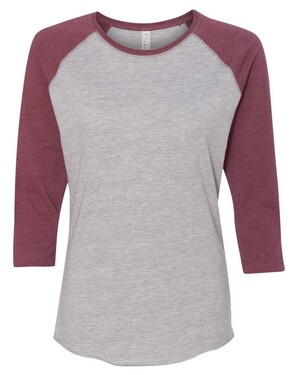 Women's Fine Jersey 3/4 Sleeve Baseball T-Shirt