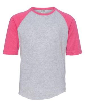 Youth Vintage Fine Jersey Three-Quarter Sleeve Baseball T-Shirt