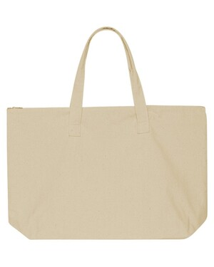 10 Ounce Canvas Tote Bag with Zipper Top Closure