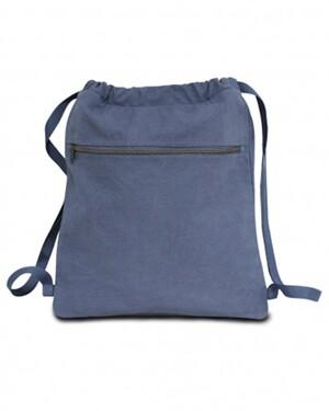 Pigment Dyed Premium 12 Ounce Canvas Drawstring Bag