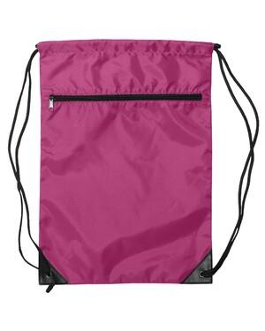 Denier Nylon Zippered Drawstring Backpack
