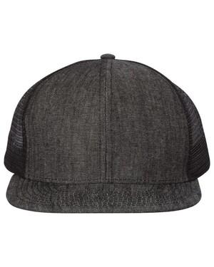 6-Panel Flat-Bill Trucker Hat