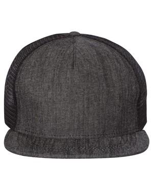 5-Panel Flat-Bill Trucker Hat