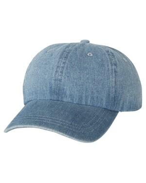 Washed Denim Cap