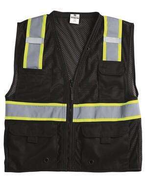 Black Details about  /Kishigo B100 Enhanced Visibility Multi-Pocket Mesh Vest