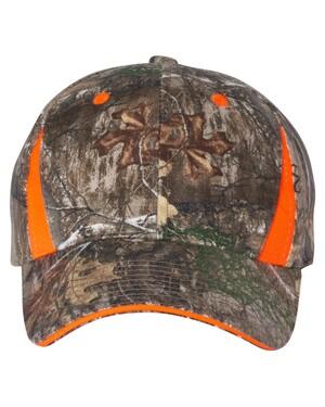 Camo Hat With Blaze Orange Trim