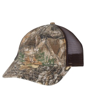 Mesh-Back Camo Cap with Flag Undervisor