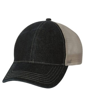 Denim Trucker Hat w/ Velcro Closure