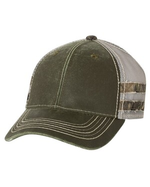 Frayed Camo Stripes Cap
