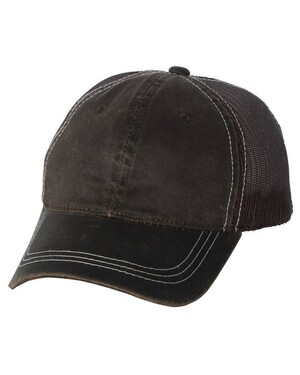 Weathered Cotton Mesh Back Hat