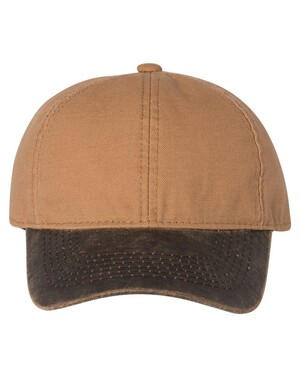 Canvas Hat with Weathered Cotton Visor