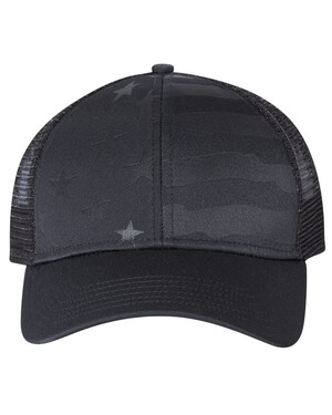 Debossed Stars and Stripes Trucker Hat