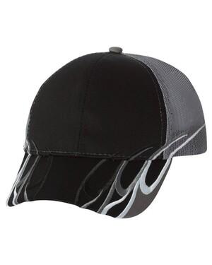 Flame Trucker Hat w/ Velcro Closure