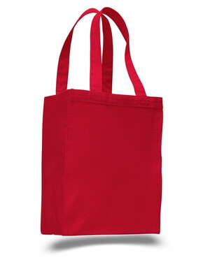 12L Canvas Gusset Shopping Tote Bag