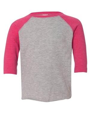 Toddler Fine Jersey 3/4 Sleeve Baseball T-Shirt