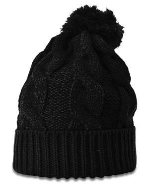 Chunk Twist Knit Beanie With Cuff