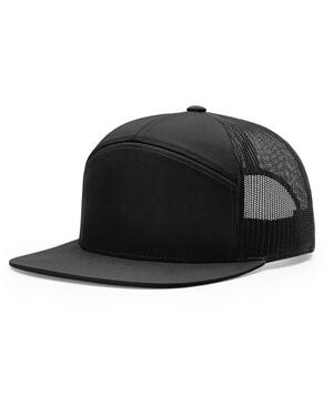 7-Panel Flat-Bill Trucker Hat