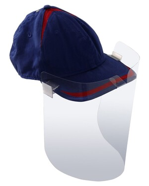 Clip-on your hat Face Shields 12-pack