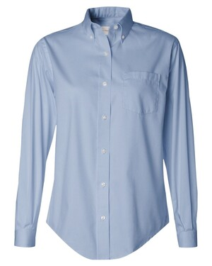 Ladies' Long Sleeve Pinpoint Oxford