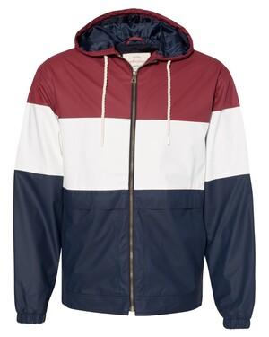 Vintage Colorblocked Hooded Rain Jacket