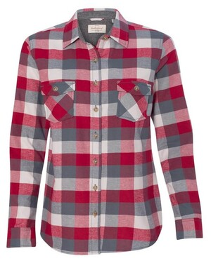 Vintage Women's Brushed Flannel Long Sleeve Shirt